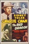 "Movie Posters:Mystery, The Red Dragon (Monogram, 1945). One Sheet (27"" X 41""). Mystery....."