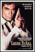"""Movie Posters:James Bond, Licence to Kill (United Artists, 1989). One Sheets (2) (27"""" X 41"""") Advance & Regular. James Bond.. ... (Total: 2 Items)"""