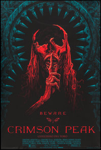 "Crimson Peak by Guy Davis (Mondo, 2015). Numbered Limited Edition Screen Print Poster (24"" X 36""). Horror"