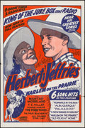 "Movie Posters:Black Films, Harlem on the Prairie (Toddy Pictures, R-1940s). One Sheet (27.75""X 41.75""). Black Films.. ..."