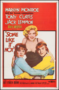 "Movie Posters:Comedy, Some Like It Hot (United Artists, 1959). One Sheet (27"" X 41"").Comedy.. ..."
