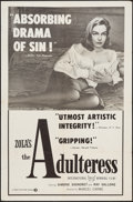 "Movie Posters:Foreign, The Adulteress (Times, 1958). One Sheet (27"" X 41"") & Photos (5) (8"" X 10""). Foreign.. ... (Total: 6 Items)"