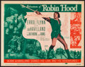 """Movie Posters:Swashbuckler, The Adventures of Robin Hood (Dominant Pictures, R-1956). Title Lobby Card (11"""" X 14""""). Swashbuckler.. ..."""
