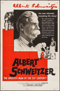 "Movie Posters:Documentary, Albert Schweitzer (Louis De Rochemont Associates, 1957). One Sheet (27"" X 41"") and Photos (7) (8"" X 10.25""). Documentary.. ... (Total: 8 Items)"