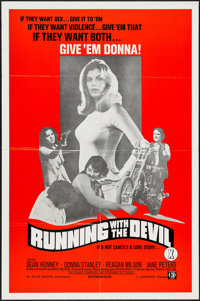 """Running with the Devil & Others Lot (Unisphere, 1973). One Sheets (3) (25"""" X 38"""" & 27"""" X..."""