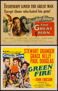 "Movie Posters:Adventure, Green Fire & Other Lot (MGM, 1954). Title Lobby Cards (2) (11""X 14""). Adventure.. ... (Total: 2 Items)"