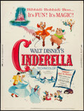 "Movie Posters:Animation, Cinderella (Buena Vista, R-1965). Poster (30"" X 40""). Animation....."