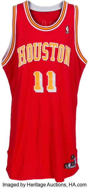 cheap for discount 57d36 f4cac 2004-05 Yao Ming Game Worn Signed Houston Rockets Throwback ...