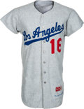 Baseball Collectibles:Uniforms, 1965 Ron Perranoski Game Worn Los Angeles Dodgers Jersey....