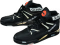Basketball Collectibles:Others, Early 1990's Dee Brown Game Worn, Signed Shoes - Reebok Pumps!...