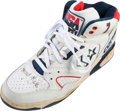 Basketball Collectibles:Others, 1992 Larry Bird Worn, Signed Dream Team I Shoe....