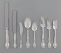 Silver Flatware, American:Tiffany, A Ninety-Six Piece Tiffany & Co. Richelieu PatternSilver Flatware Service for Twelve, New York, New York, desig...(Total: 96 Items)