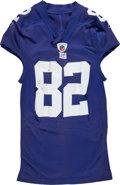 Football Collectibles:Uniforms, 2009 Mario Manningham Game Worn New York Giants Jersey....