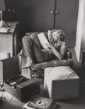 Photographs:Gelatin Silver, Andre de Dienes (American, 1913-1985). Marilyn (reading in herapartment), 1952. Gelatin silver, 1992. 14 x 11 inches (3...