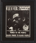 Political:Posters & Broadsides (1896-present), Eldridge Cleaver: Peace and Freedom Party Poster....