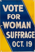 Political:Posters & Broadsides (1896-present), Women's Suffrage: New Jersey Poster....