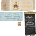 Political:Ribbons & Badges, James A. Garfield and Ulysses S. Grant: Four Items.... (Total: 4 Items)