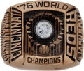 Baseball Collectibles:Others, 1976 Cincinnati Reds World Series Championship Ring Presented toRiverfront Stadium Head Groundskeeper....