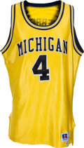 Basketball Collectibles:Uniforms, 1992-93 Chris Webber Game Worn University of Michigan WolverinesJersey. ...