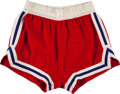 Basketball Collectibles:Uniforms, Late 1960's Luscious Jackson Game Worn Philadelphia 76ers Shorts....