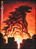 "Movie Posters:Science Fiction, Godzilla by Phantom City Creative (Mondo, 2014). Numbered LimitedEdition SXSW Exclusive Screen Print (18"" X 24""). Science F..."