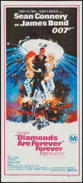 "Movie Posters:James Bond, Diamonds are Forever (United Artists, 1971). Australian Daybill (13"" X 30""). James Bond.. ..."