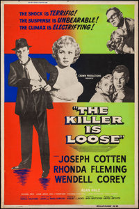 """The Killer is Loose (United Artists, 1956). Silkscreen Poster & Posters (2) (40"""" X 60""""). Crime. ... (Total..."""