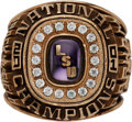 Miscellaneous Collectibles:General, 2001 LSU Tigers NCAA Track & Field Championship Ring....