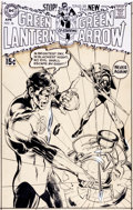 Original Comic Art:Covers, Neal Adams Green Lantern #76 Cover Green Arrow Original Art (DC, 1970)....