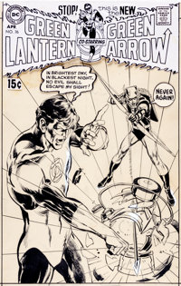 Neal Adams Green Lantern #76 Cover Green Arrow Original Art (DC, 1970)