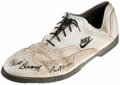 Basketball Collectibles:Others, Bill Russell Used and Signed Golf Shoe....