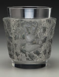 Art Glass:Lalique, R. Lalique Clear and Frosted Glass Bacchus Vase with GreyPatina. Circa 1938. Stenciled R. LALIQUE FRANCE. M p...