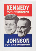 Political:Posters & Broadsides (1896-present), Kennedy & Johnson: 1960 Campaign Poster....