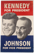 Political:Posters & Broadsides (1896-present), Kennedy & Johnson: Large Jugate Poster....