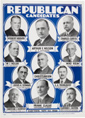 Political:Posters & Broadsides (1896-present), Hoover & Curtis: 1928 Poster with Minnesota CoattailCandidate....