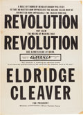Political:Posters & Broadsides (1896-present), Eldredge Cleaver:1968 Presidential Poster,...