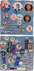 Political:Pinback Buttons (1896-present), John F. and Robert F. Kennedy: Approximately 105 Buttons, Etc....