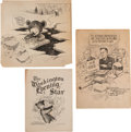 Political:Small Paper (1896-present), [Theodore Roosevelt]: Three Clifford Berryman Items....