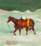 Victor Higgins (American, 1884-1949) Saddled Horse Oil on board 13-1/2 x 11-1/2 inches (34.3 x 29.2 cm) Signed lower