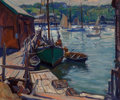 Maritime, Emile Albert Gruppe (American, 1896-1978). Early MorningGloucester. Oil on canvas. 25 x 30 inches (63.5 x 76.2 cm).Sig...