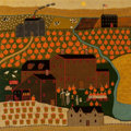 Paintings, Charles Wysocki (American, 1900-1999). Pennsylvania, People & Pumpkins. Oil on board. 28 x 28 inches (71.1 x 71.1 cm). S...