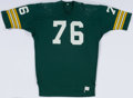 Football Collectibles:Uniforms, 1976 Mike McCoy Game Worn Green Bay Packers Jersey....