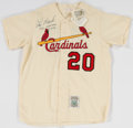 Baseball Collectibles:Uniforms, Lou Brock Signed and Inscribed St. Louis Cardinals Jersey....