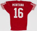 Football Collectibles:Uniforms, Joe Montana Signed San Francisco 49ers Jersey....