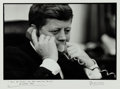 Photography:Official Photos, John F. Kennedy: An Important Oversized Signed Jacques LowePhotograph of a Clearly Worried JFK During the Cuban MissileCrisi...