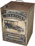 Transportation:Automotive, Early Petroliana: Five-Gallon Whizoil Tin Container....