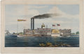 Antiques:Decorative Americana, Mississippi Steamboat: Large Folio Lithograph by N. Currier....