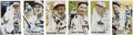 Baseball Collectibles:Others, 1934 St. Louis Cardinals Team Signed Set of Index Cards (33)....