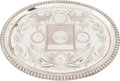 """Political:3D & Other Display (pre-1896), 1876 Centennial: A Breathtaking Mammoth 28"""" x 22"""" Silver-plated Tray...."""