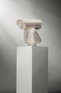 Sculpture, Ai Weiwei (b. 1957). Surveillance Camera, 2010. Marble. 14 x 15-1/2 x 7-1/2 inches (35.6 x 39.4 x 19.1 cm). This work is...